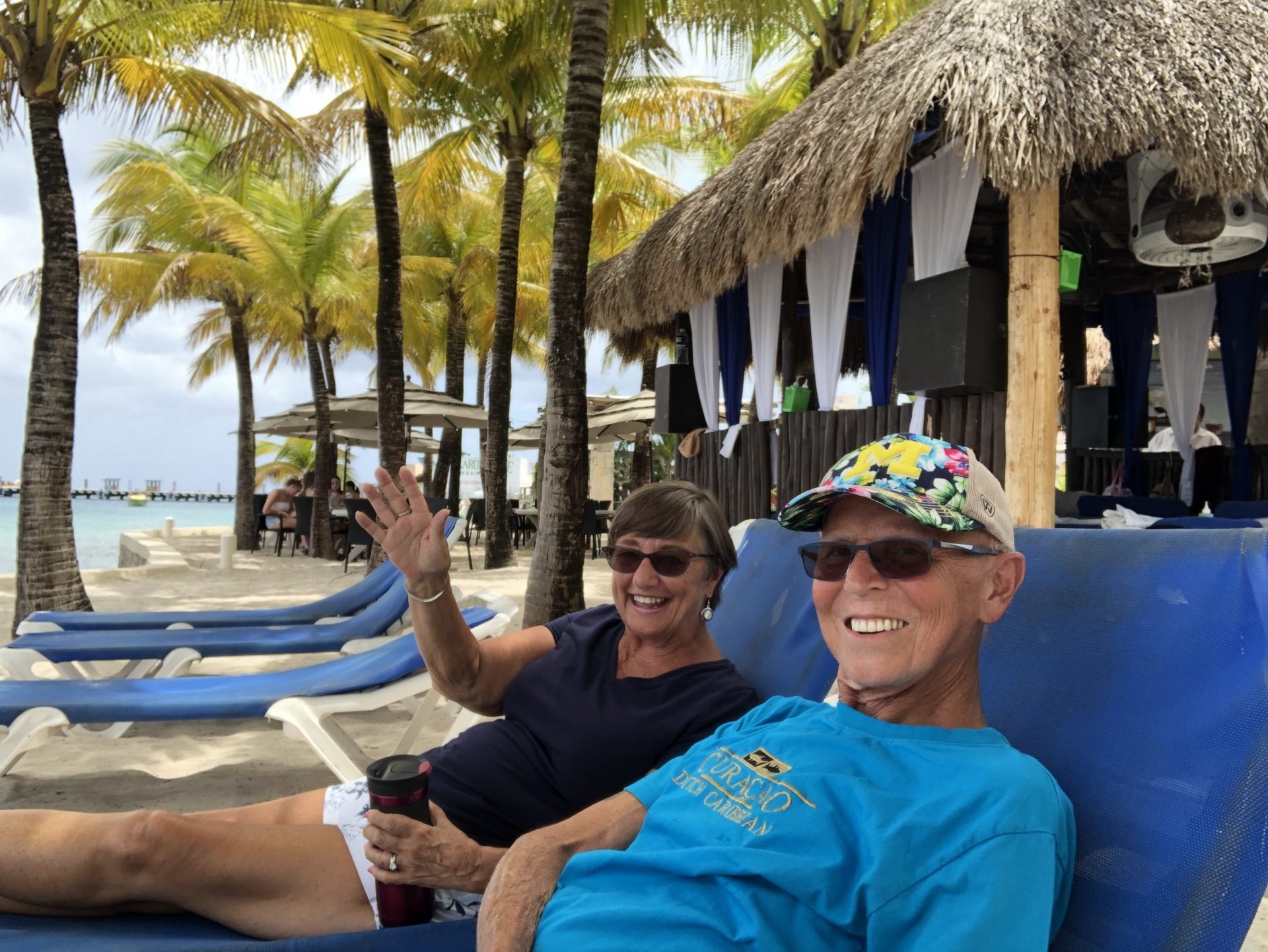 This is how I hope everyone remembers Larry.  We enjoyed our time together so much!  He loved cruising and you could find us any place in the Caribbean at any times!