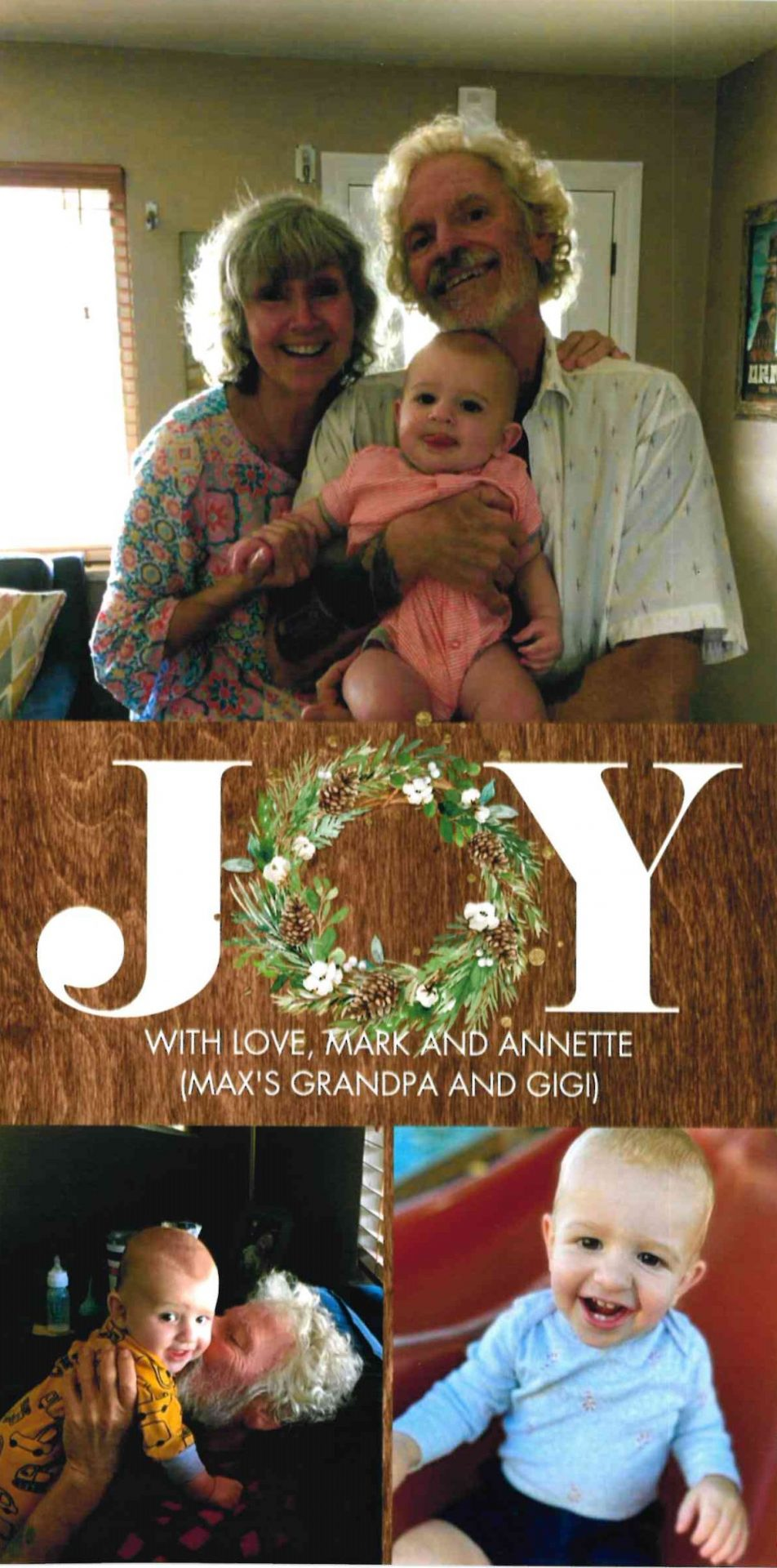 Joy with the family