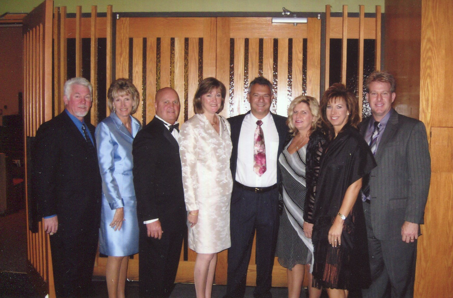 Inge and Kris with cousins Karen and Wendy and spouses and Janine and Joe at cousin Steve's wedding in Toronto Canada in 2006.
