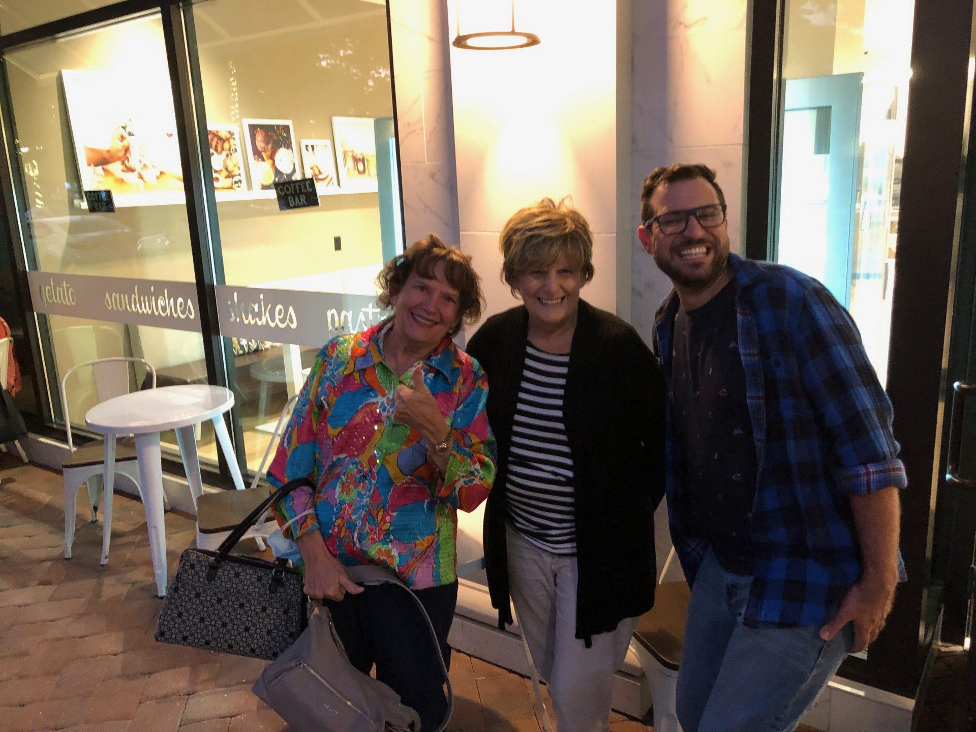 Inge, Jane & guy who photobombed at Naples 11/2021