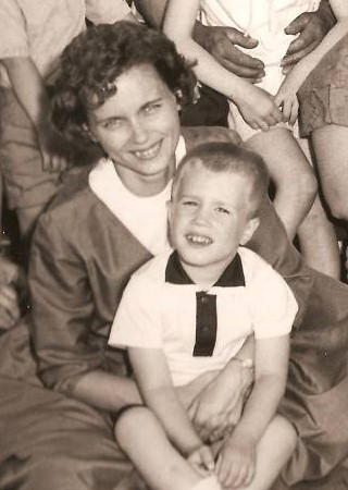 Little Dougie with Mom.