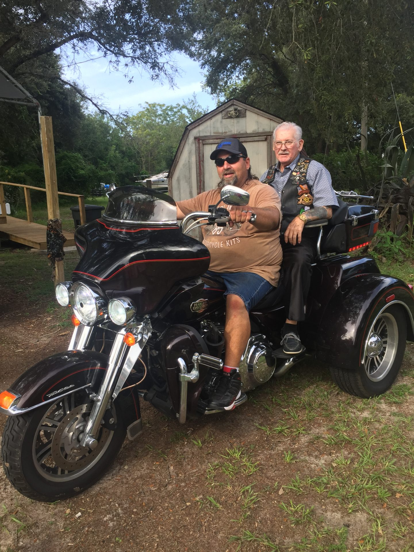 Joe and Dad went for a ride