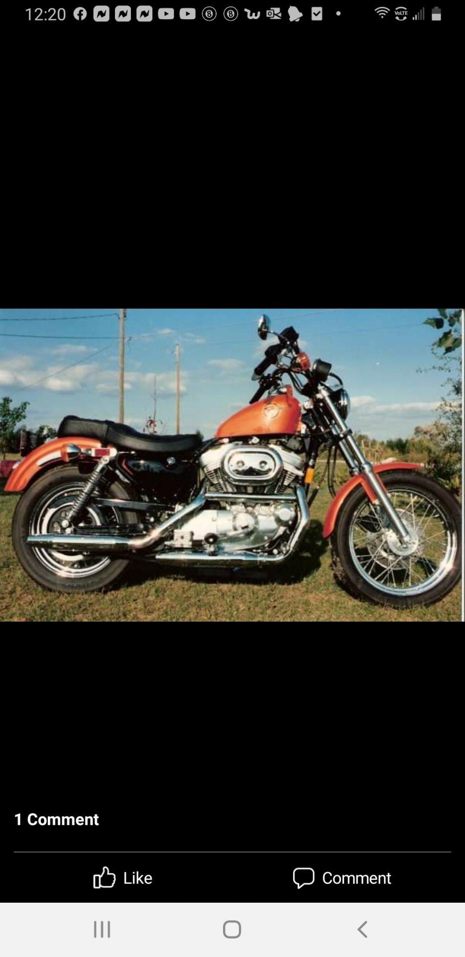 Dad's last Harley Davidson