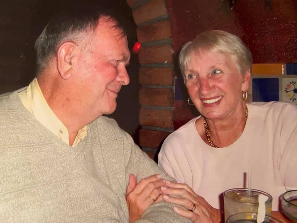One of my favorite pictures where both of my parents are looking at each other and it shows the love they had for each other!