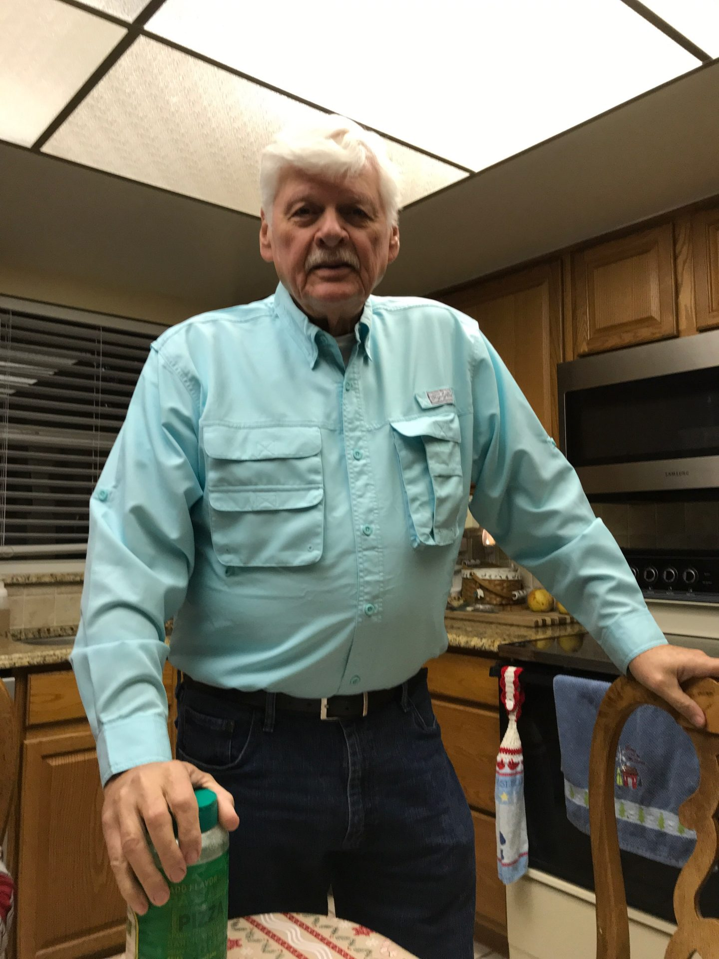 Ken light blue fishing shirt