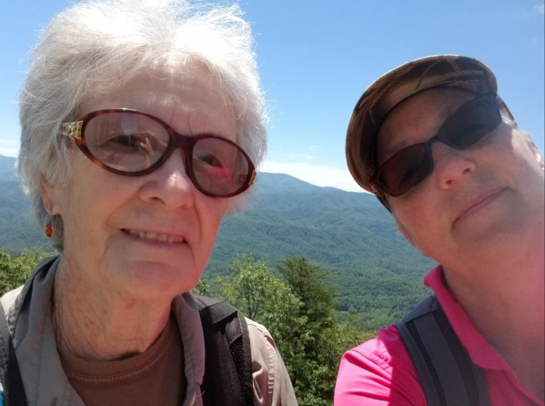 Betty and me hiking