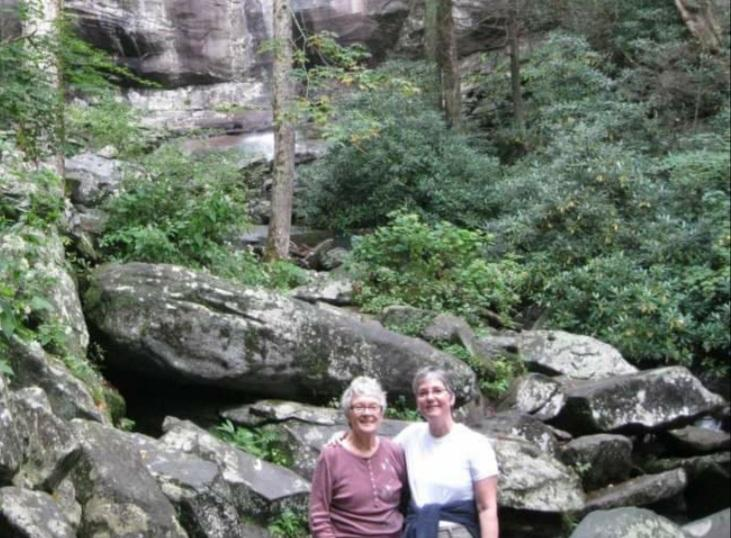 Me and Betty at the falls