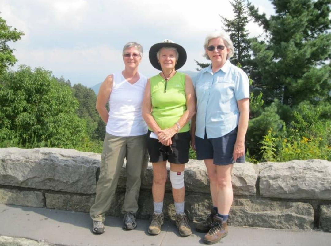 Me (Lisa), Betty and Anita hiking.