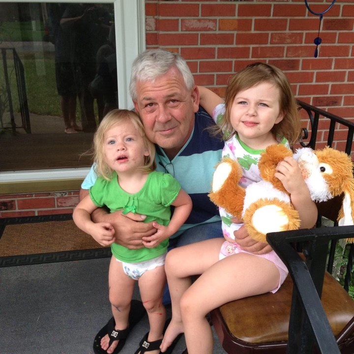 A few years back with his granddaughters