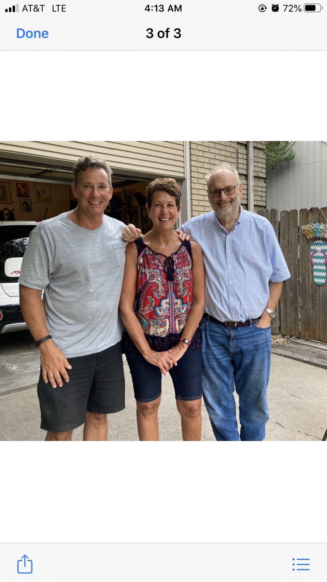Last picture of Larry, Debbie and myself taken summer of 2020. Rest easy my brother (or as we would say bro)