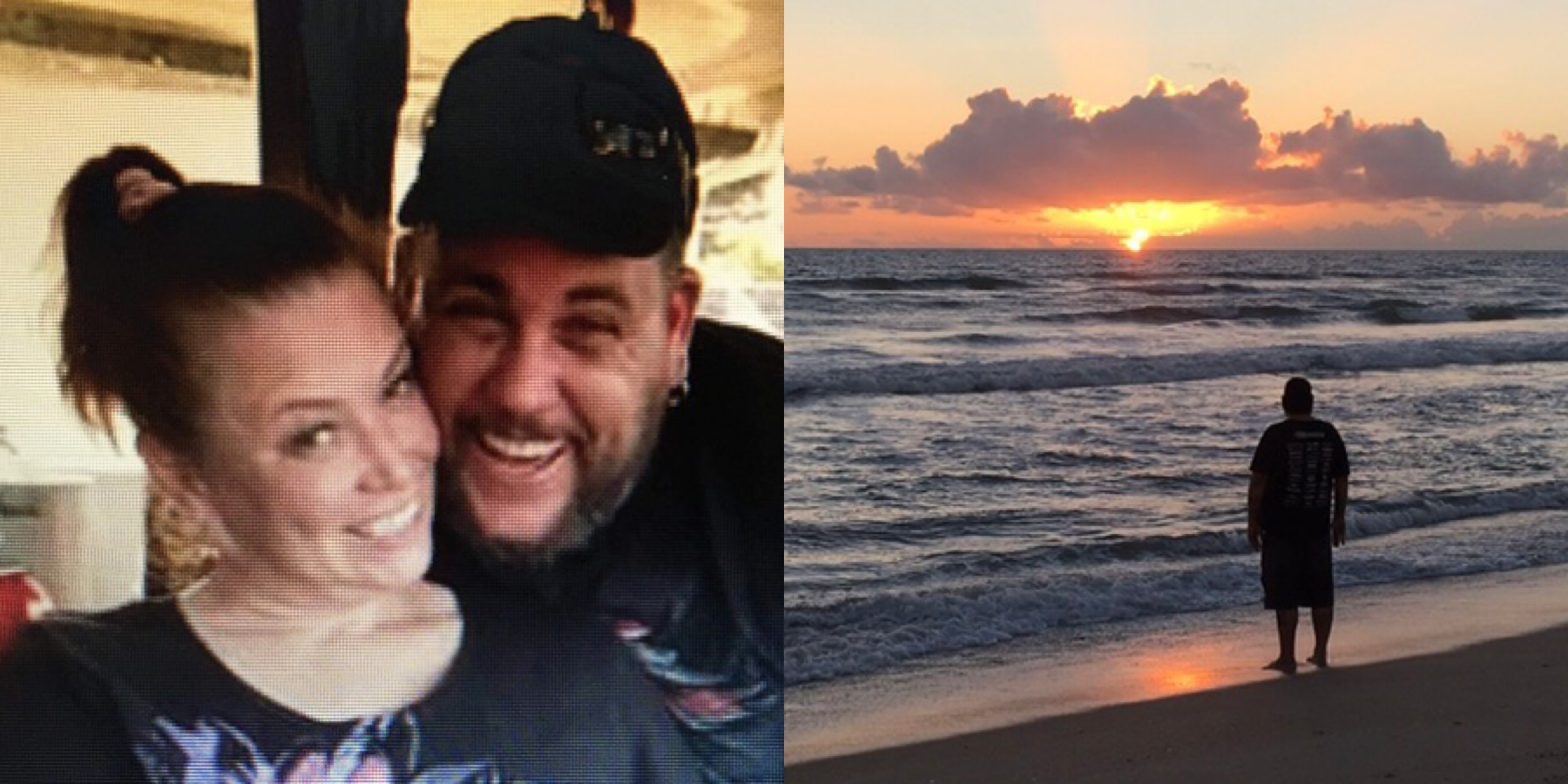Our first pic and my last taken of you dear friend!  I love that sunrise picture and the fun we had that day.  My heart aches with disbelief that you are gone. I will always cherish our memories and pray for God's peace and strength over your family as I you watch over them. I love  and miss you...sleep in peace.
