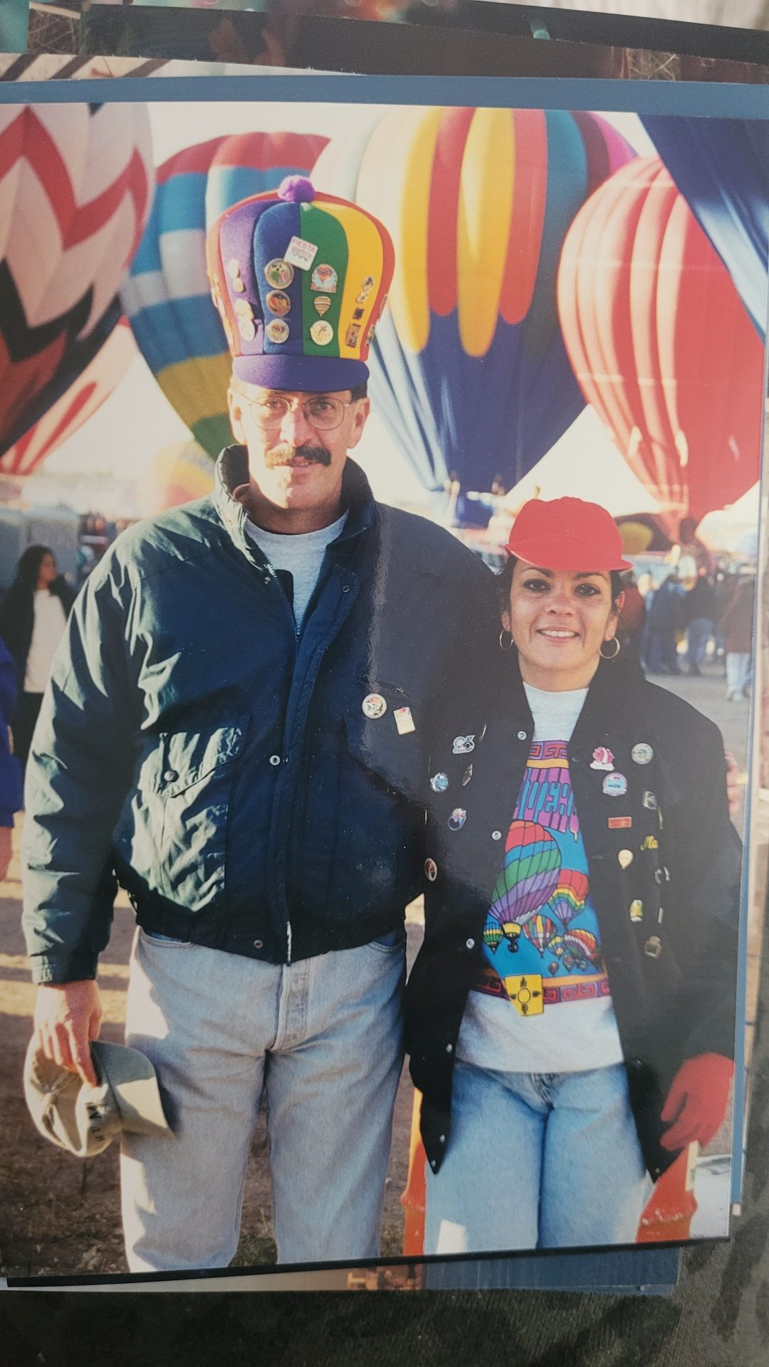 My parents doing what they loved...Hot Air Ballooning.