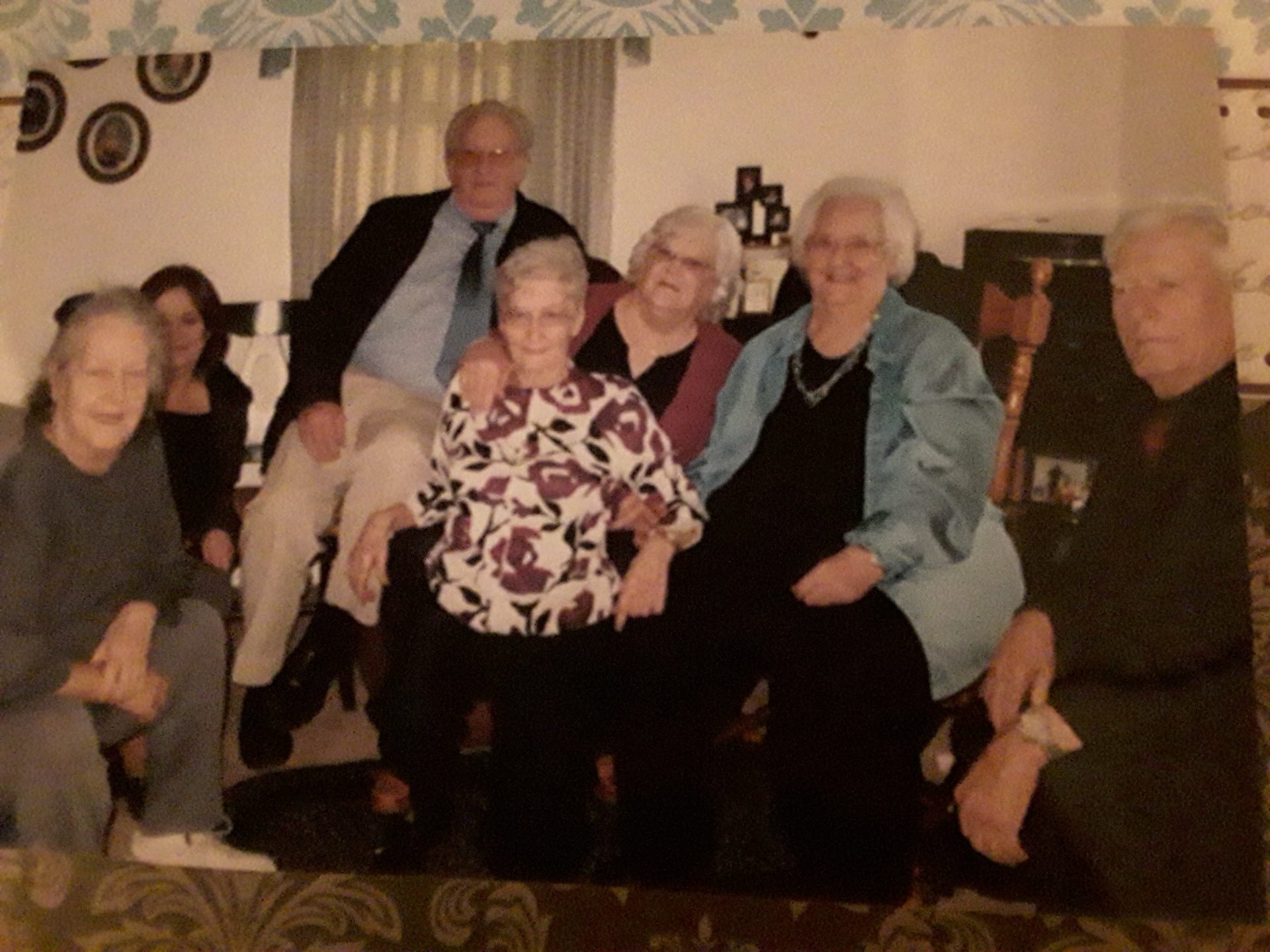 2010 at after gathering for uncle Bill's Memorial.   Possibly last pic of all sibs together.