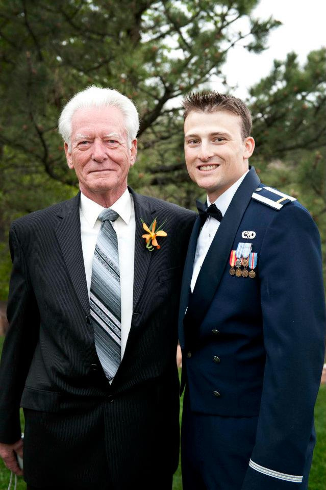 Frank with his Grandson Chris at his Wedding (May 28, 2011).