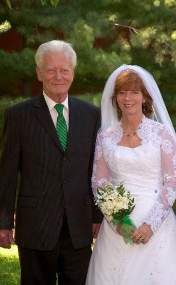 2011 wedding photo Dad and Kim