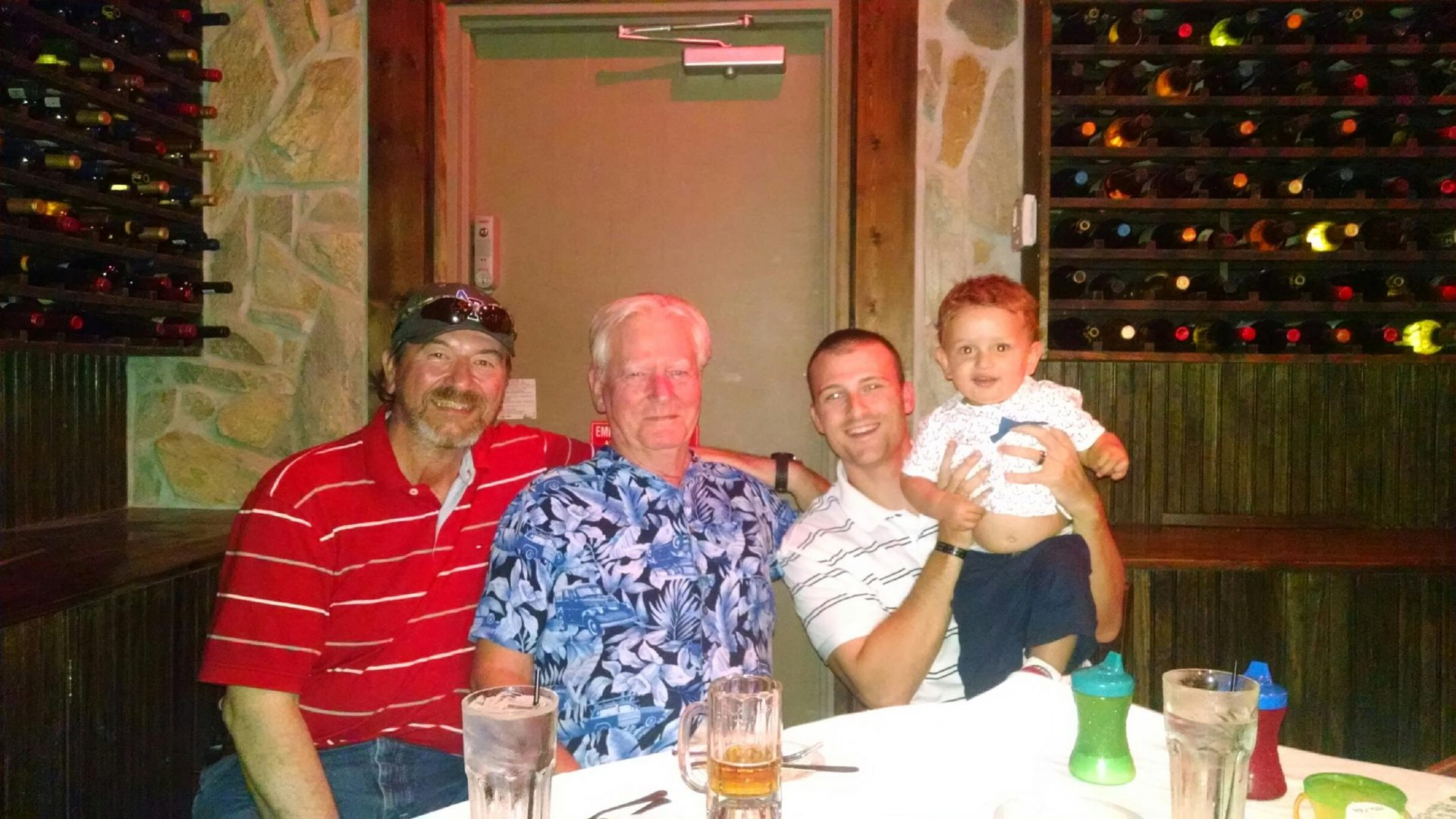 Trip to Destin, Florida 2014<br /> Father, Son, Grandson, Great Grand Son<br /> Frank, Mike, Chris and Gavin