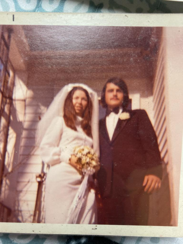 Mom and Dad wedding day<br /> January 26,1973