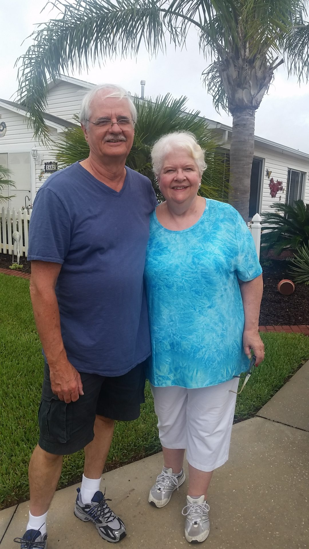 This photo was taken in August 7, 2017 during one of Sal & Peg's exploratory visits to The Villages, Florida.  Linda & George are already Village residents.