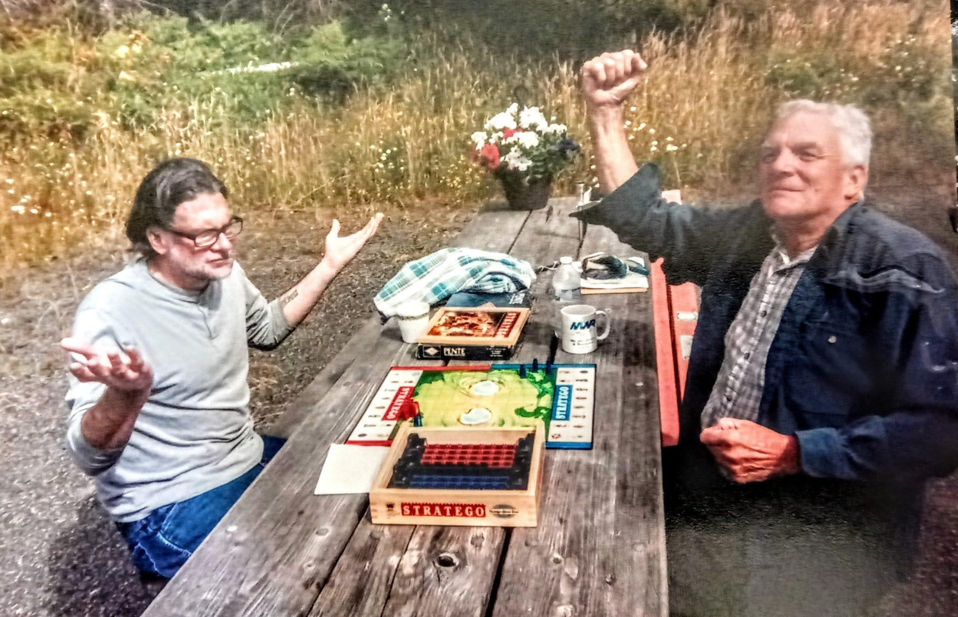 Brian and dad...dad won!