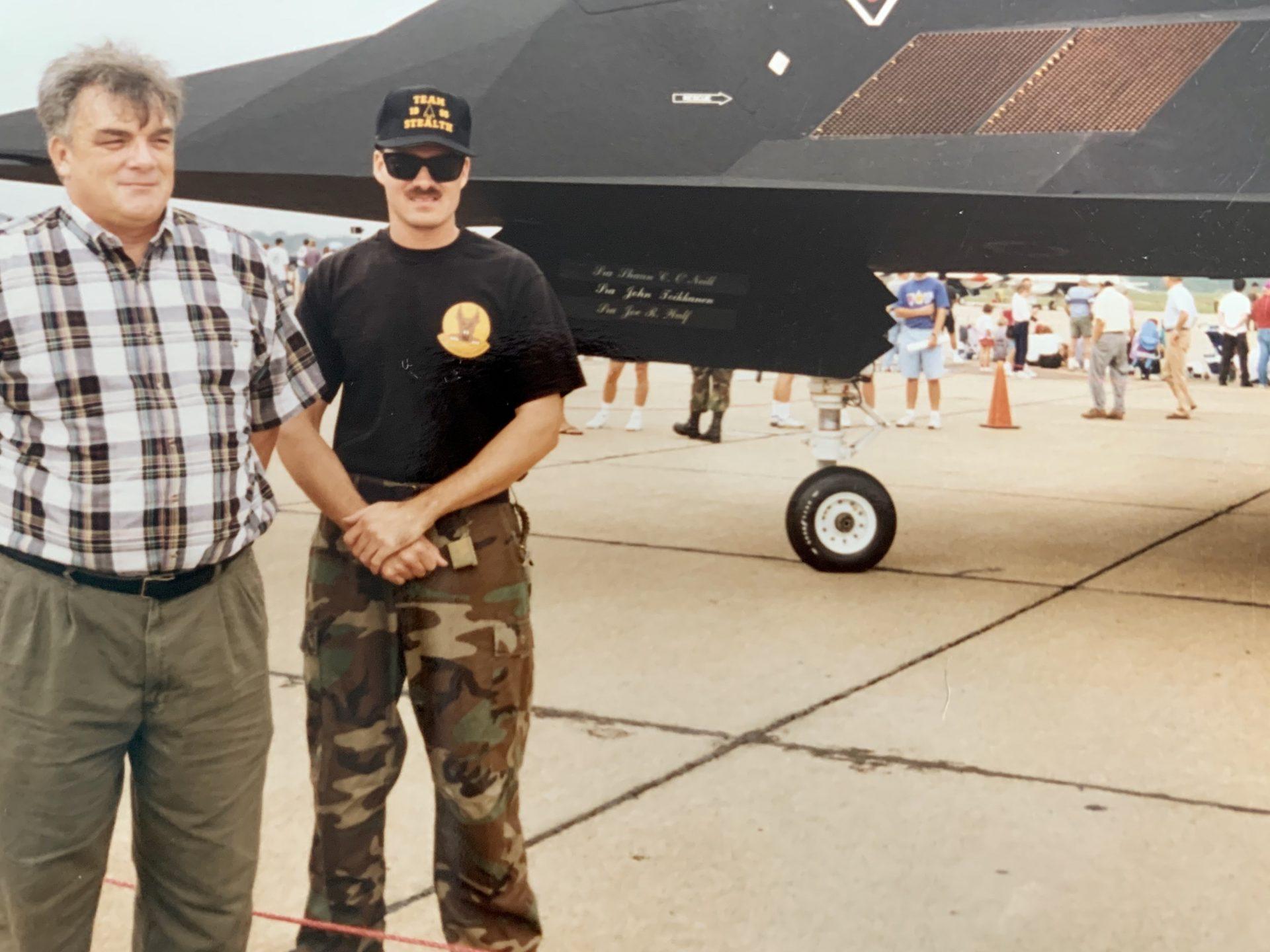 Dad & Shaun at airshow