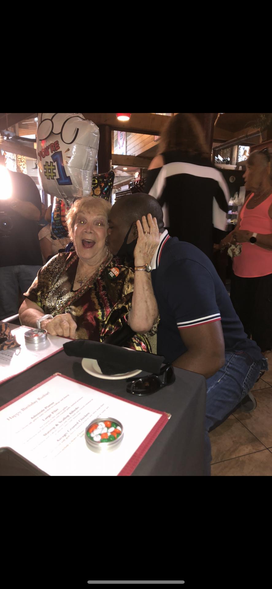 Juanito kissing mom