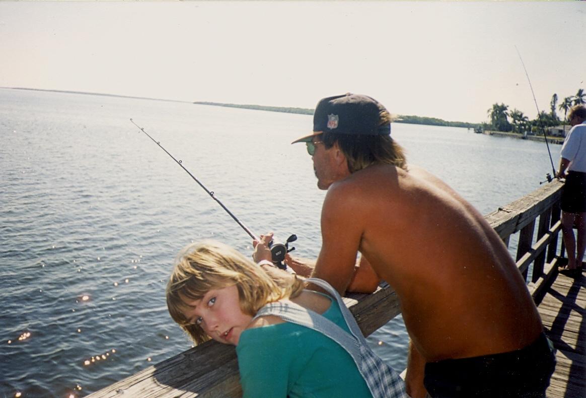 Dad & Ash fishing