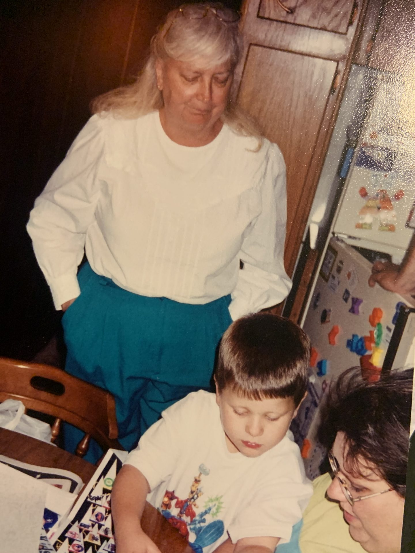 Mom with her Grandson Christopher, (Dan & Beth)