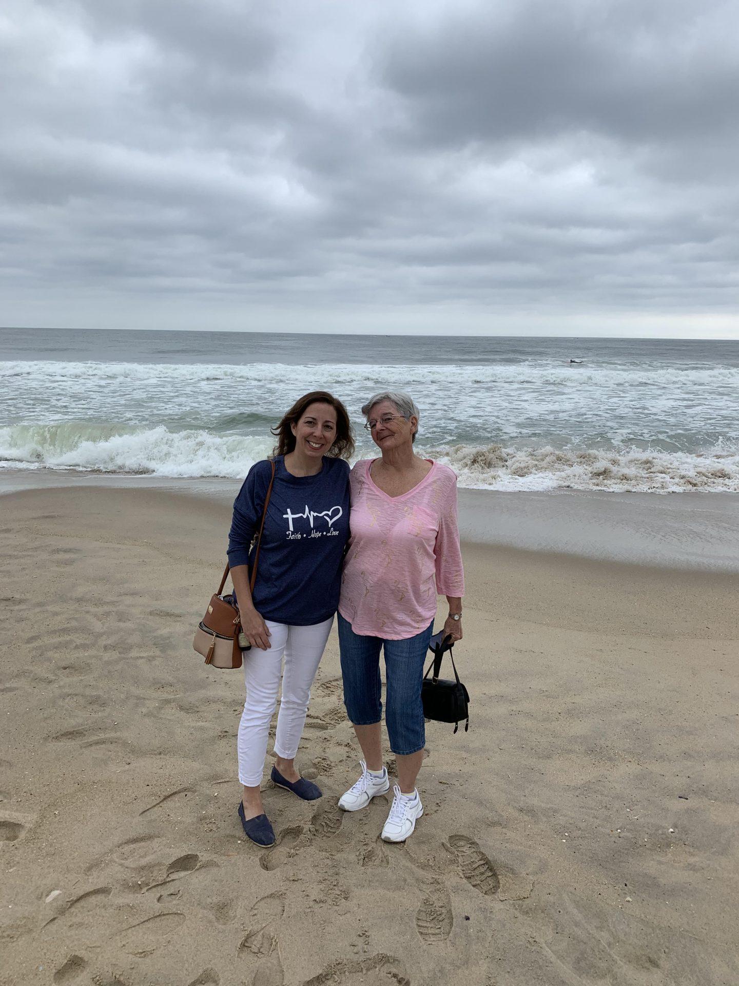 Mom loved the beach