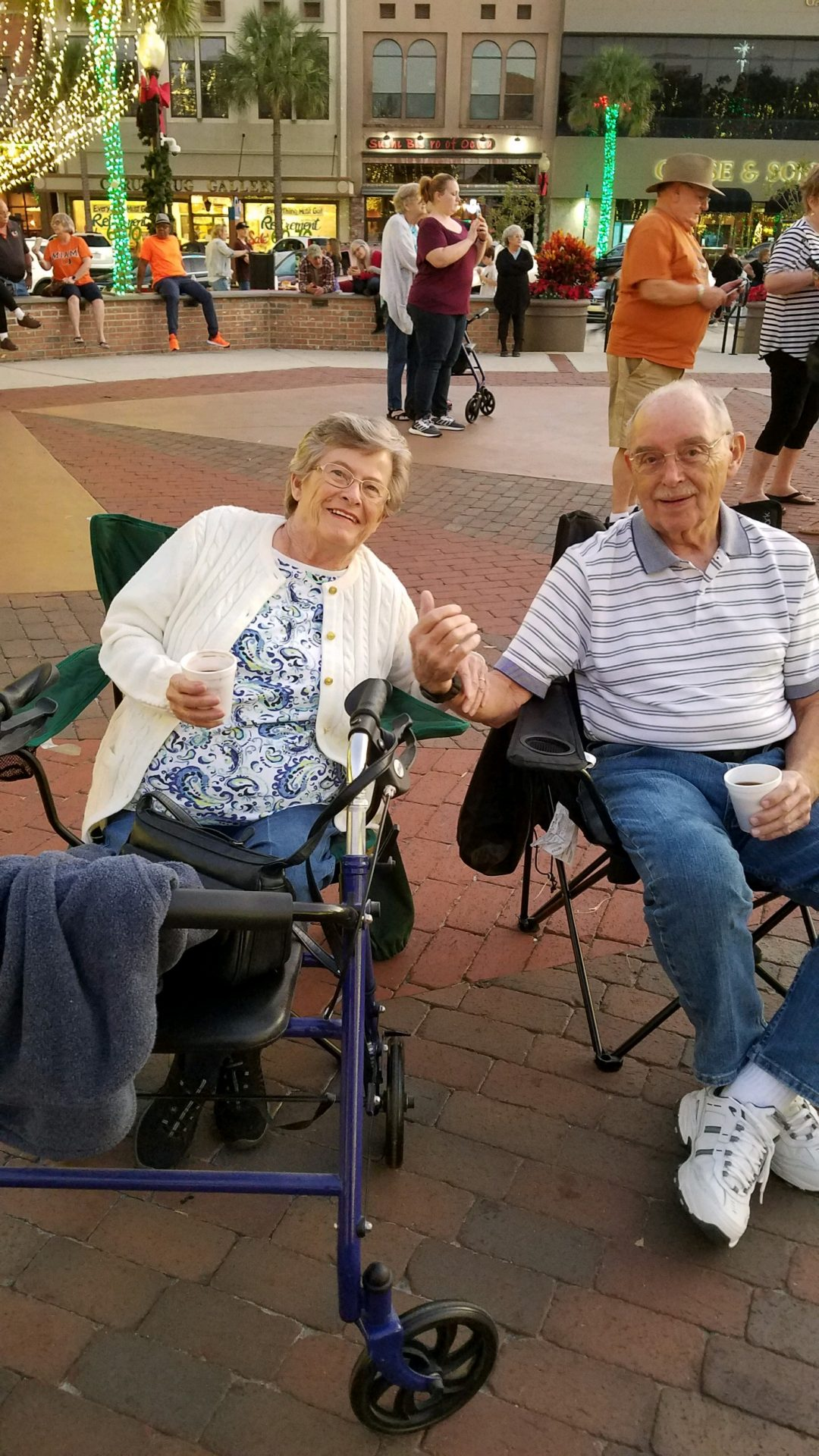 Mom & Dad at the square in Ocala