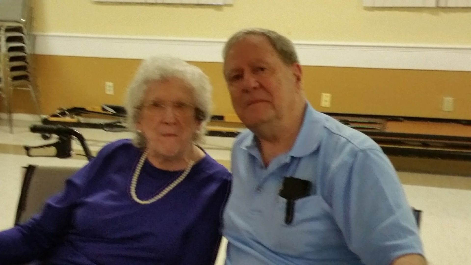 Sid with his big sister, Alma Hangstefer at her 90th birthday celebration.