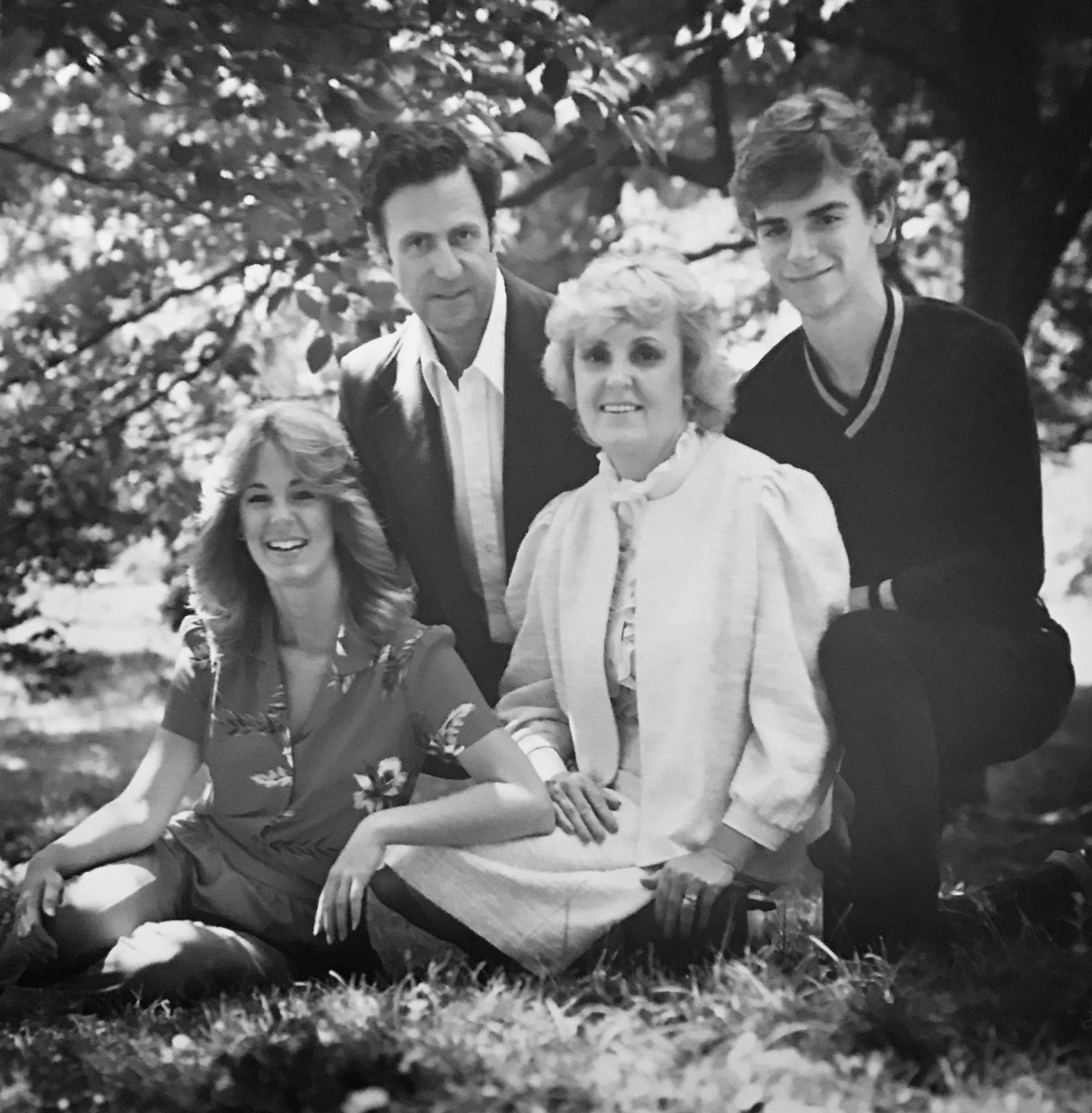 Sid, Joan, Sherry & Sidney in 1982 at Vanderbilt Mansion in Hyde Park, NY