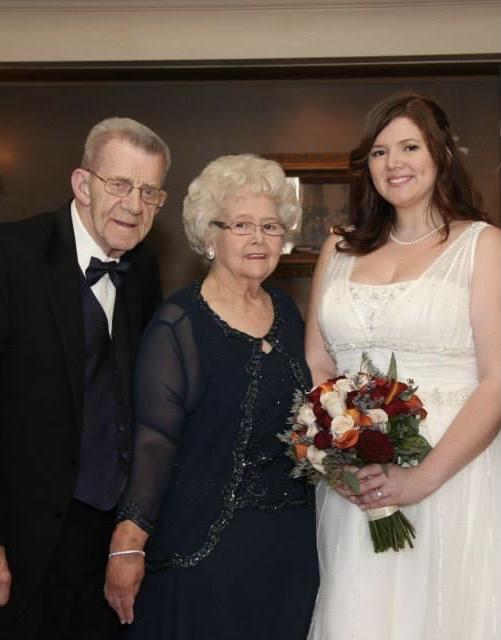 Grandma, Pappy, and me (Heather)<br /> November 2013<br /> Mine and Matt's Wedding