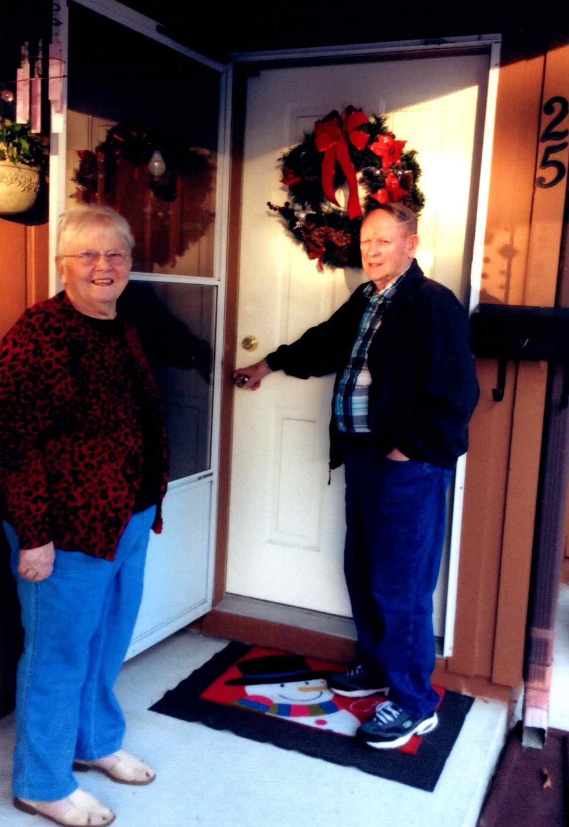 Elizabeth and Neil McColl at Christmas