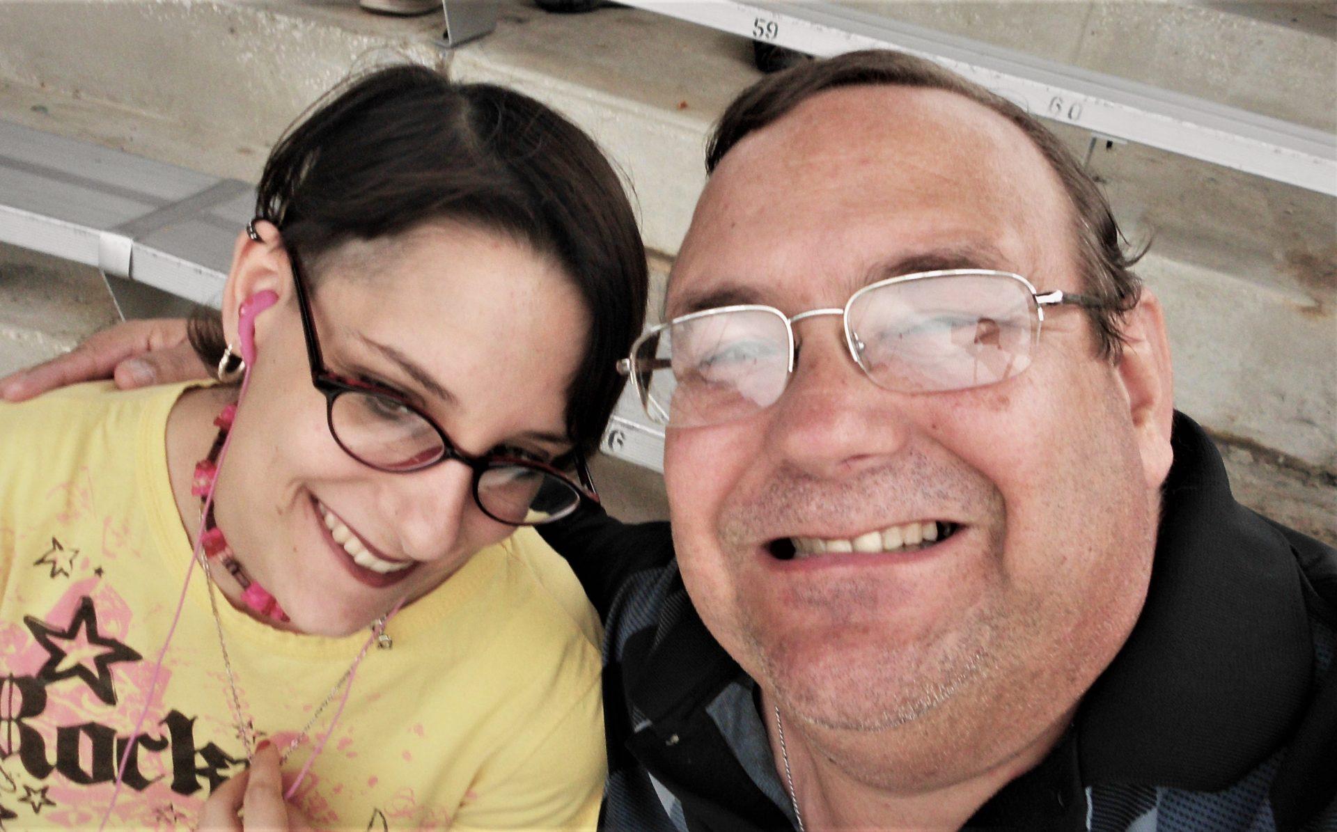 Matt with his daughter Kimberly