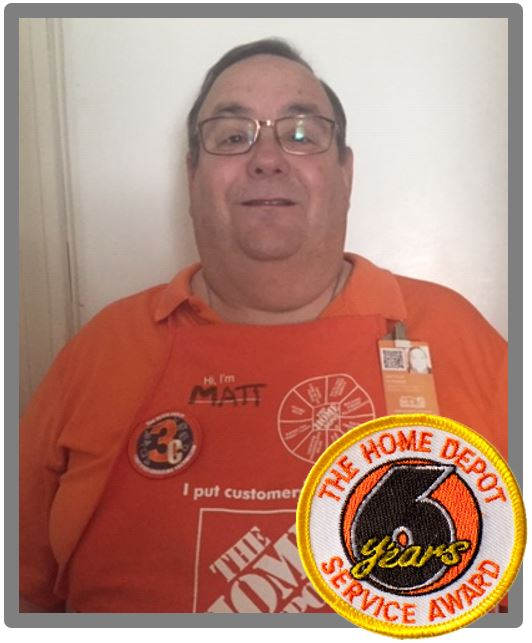 Matt, you will be missed by your Home Depot friends and family.  In the time that we worked together I have always been appreciative of your willingness to do the right thing and helpfulness of others, customers and co-workers alike.  To the Autenrieb family, I am so sorry for your loss.   Please know that your dad, son, and brother was beloved by, and inspiring to those he worked with.