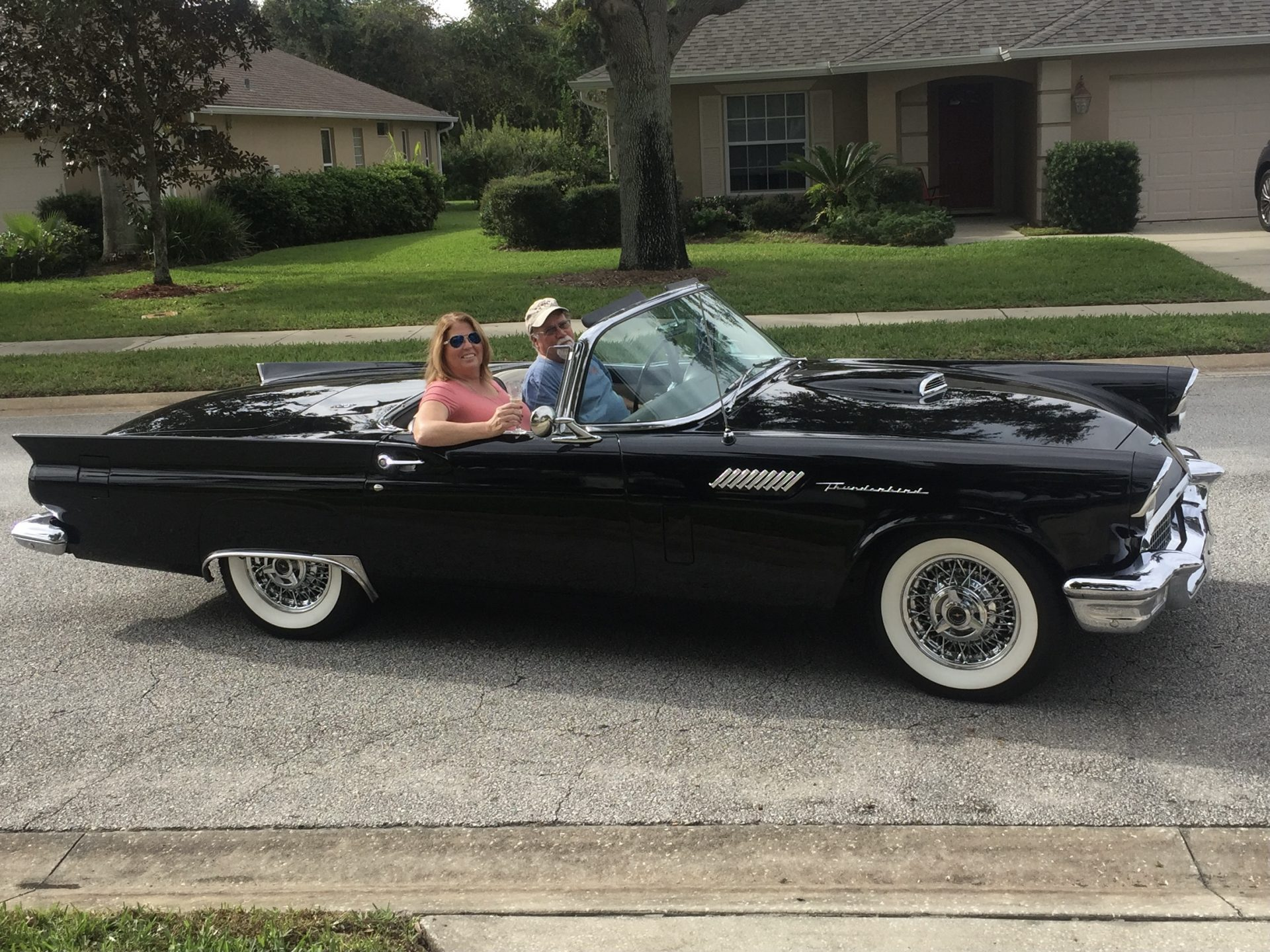 Riding in the T-Bird with Valerie