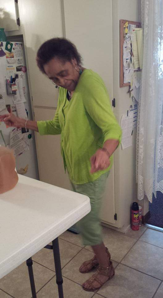 My fun-living auntie...cutin' a step!