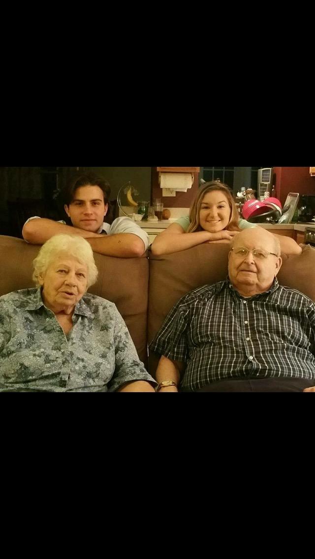 Amanda's children with Grandpa Don and Granny Franny