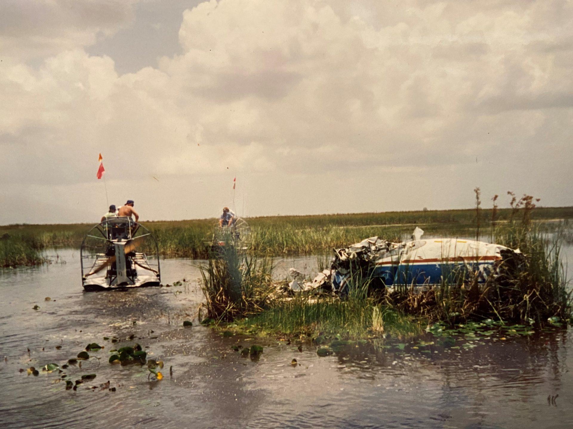 Airplane crash in the Everglades