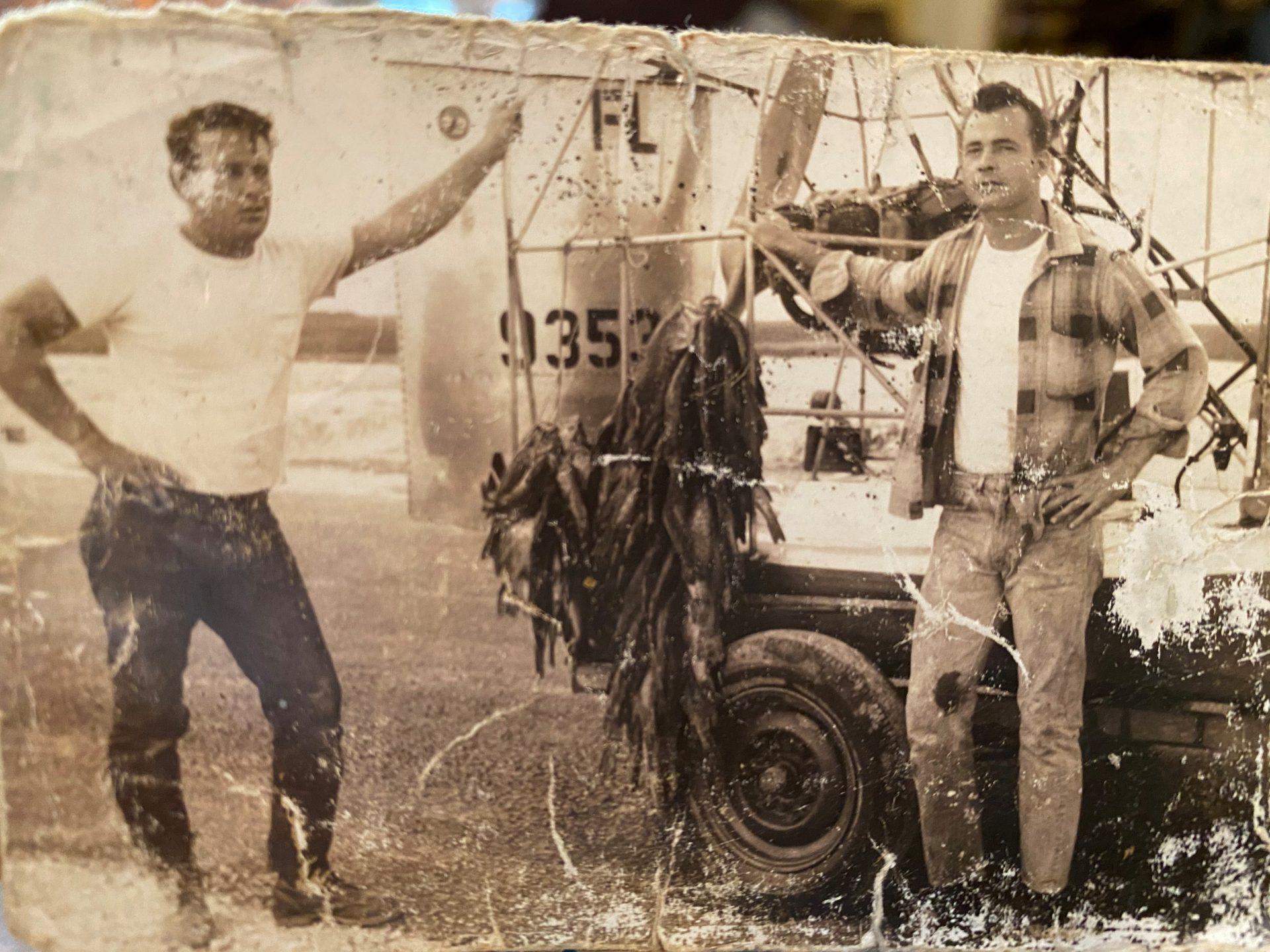 Bobby and Carl Hurst? giant stringer of fish