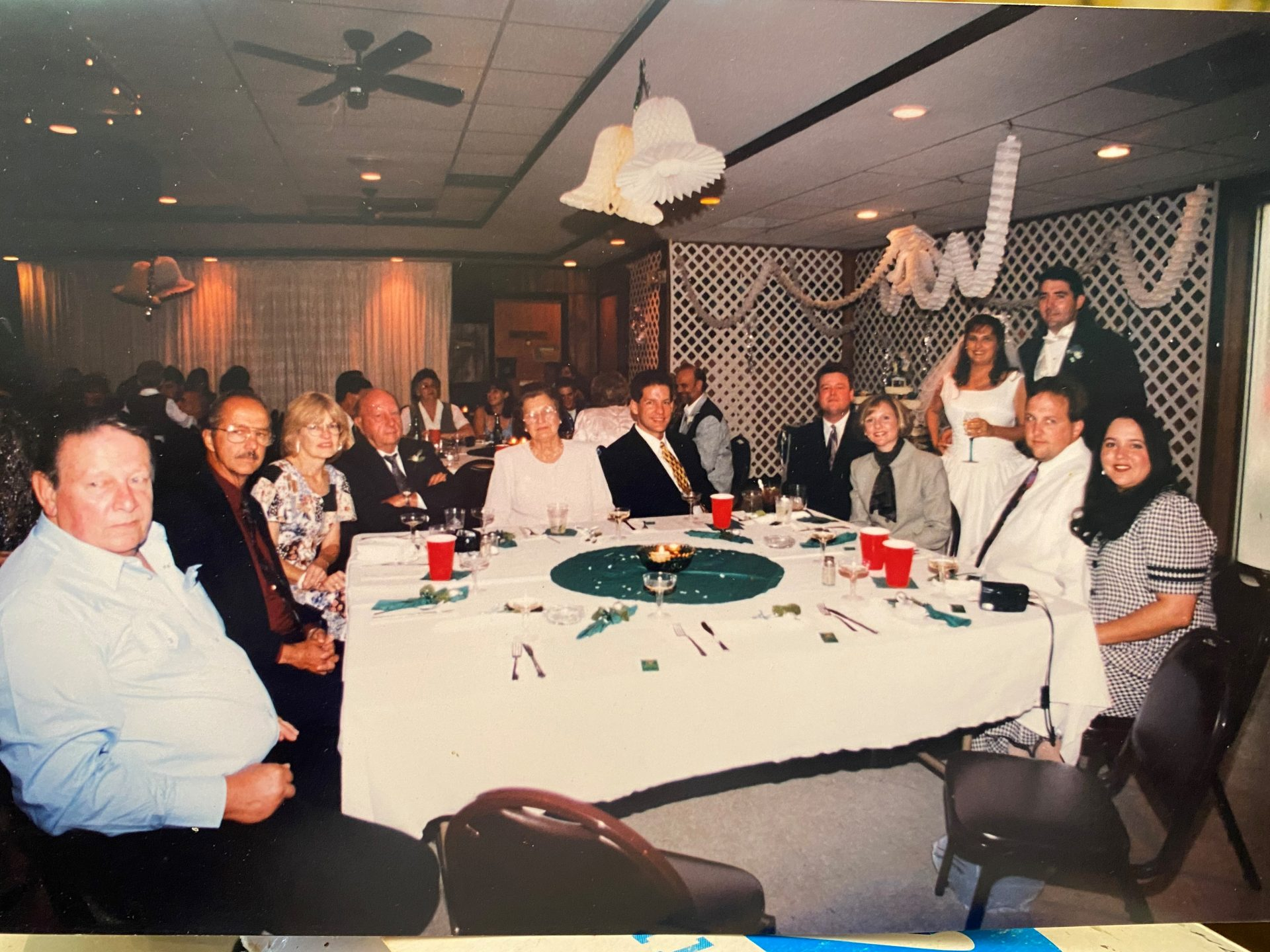 Michelle - Wedding:  Bobby Simpson, Wayne  and Mary Hamlin (Bobby's sister) , John and Margaret Simpson (Father and step mother), Paul Hamlin (nephew) , Mike Curry (nephew) , Michelle (niece) and James Duquette, Al (nephew) and Leslie Hamlin