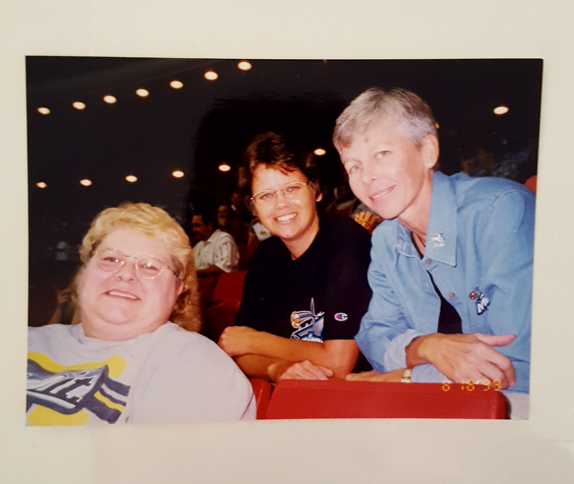 Linda, Neff, and Mary supporting the Orlando Miracle.