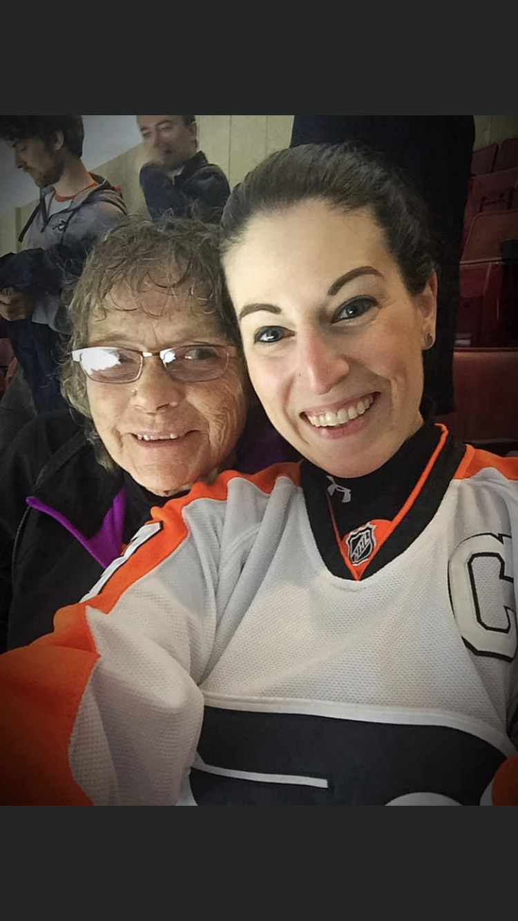 Mom and my best buddy Val and mom's first hockey game. Good times.