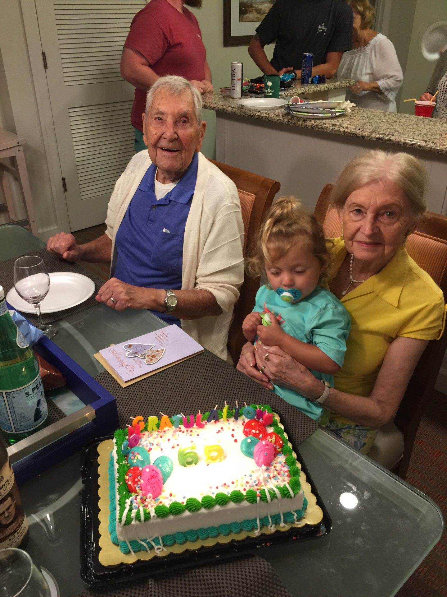 Mom and Dad with cute little Audrey