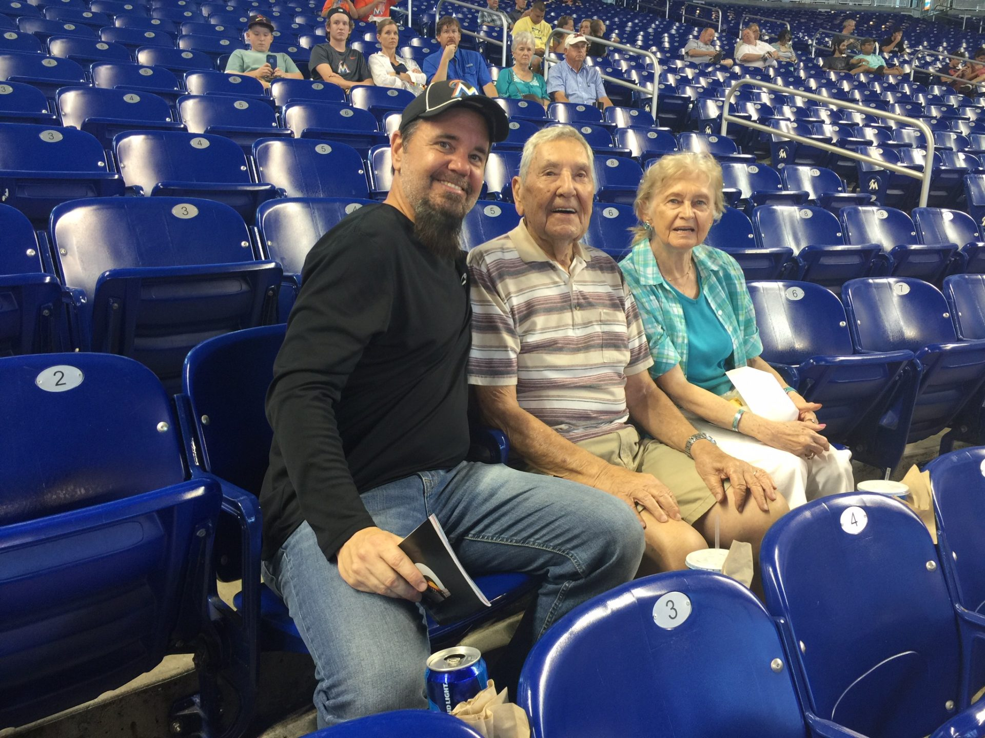 Mom and Dad at the Marlins new stadium