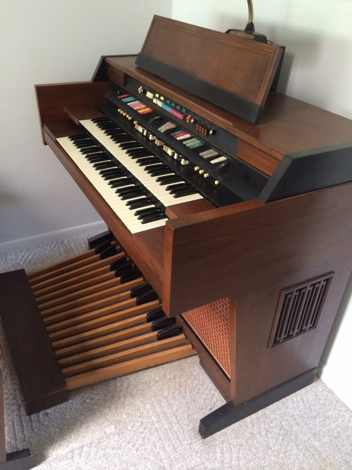 Groovy Hammond organ in Lake Placid. He loved playing the organ!