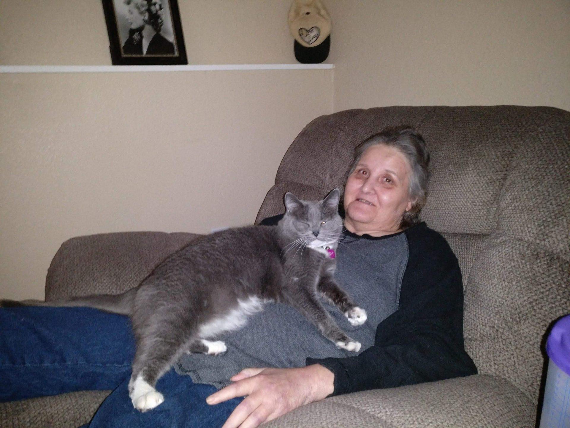 Rosie with her new cat Josie