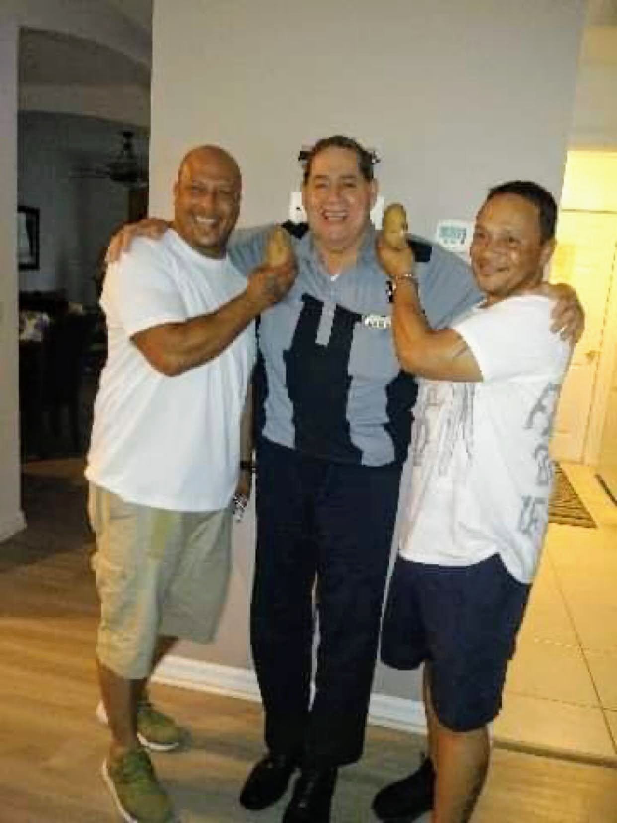 Me ,Tio Freddy , and cousin Mikey we  will miss u papa head