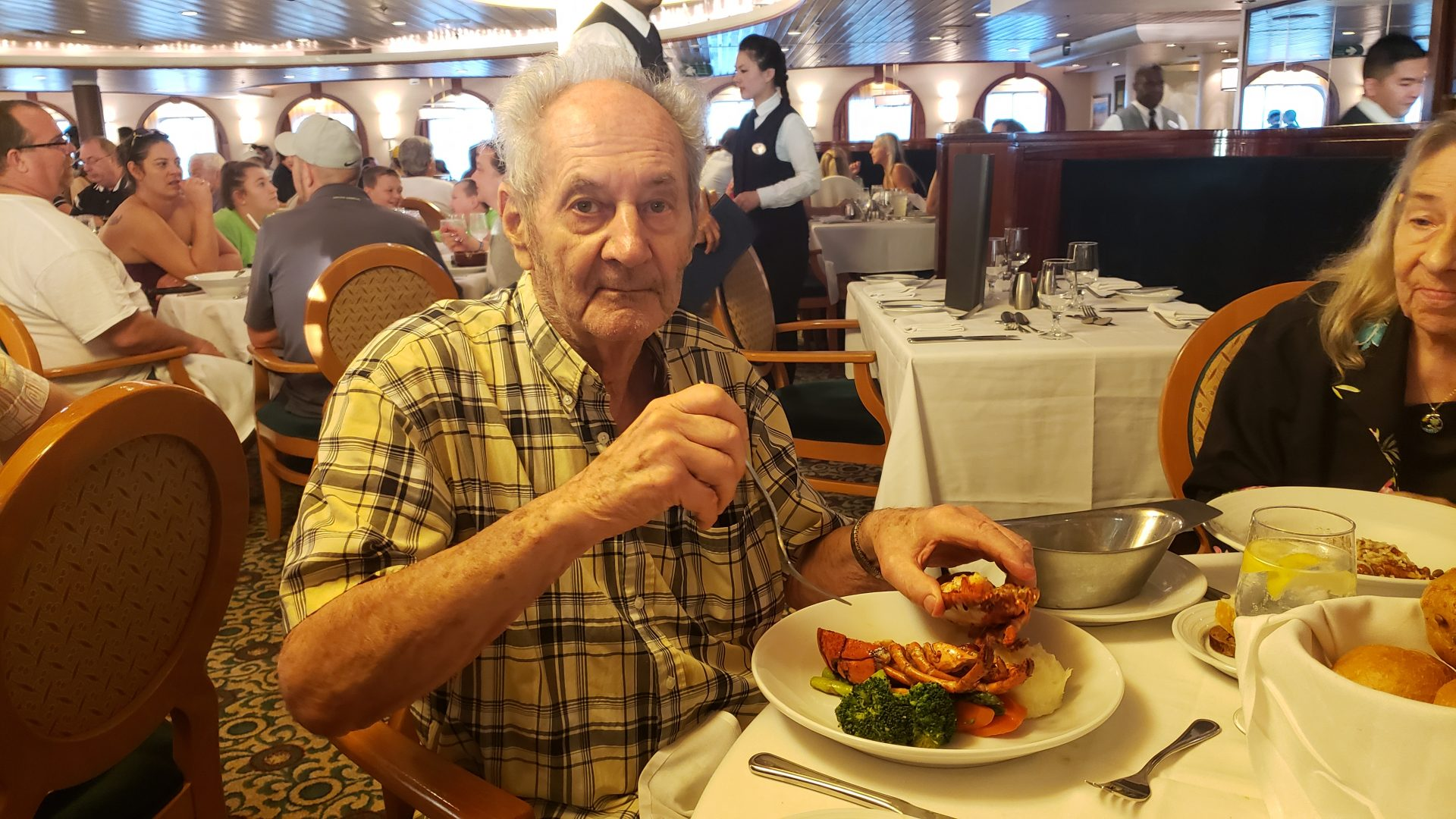 Dad loved his lobster. Our 2019 cruise.