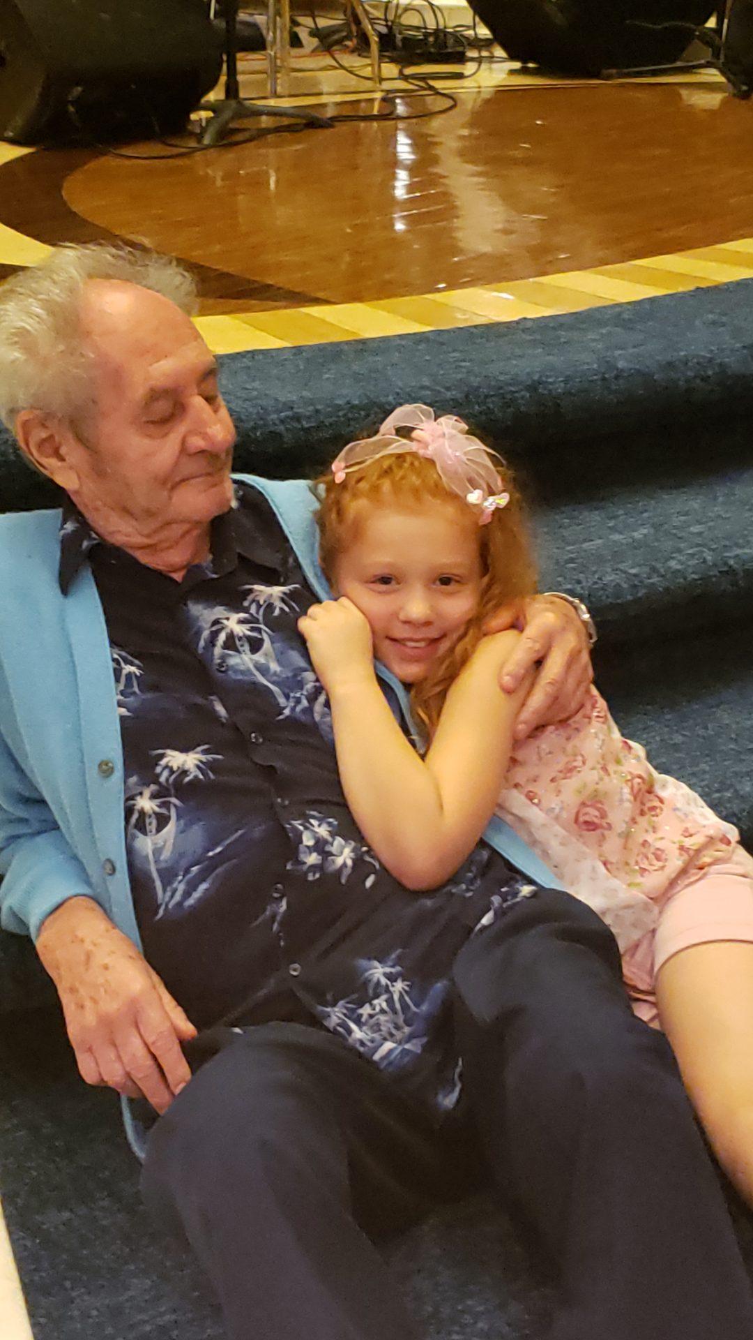 Brianna loved grandpa!